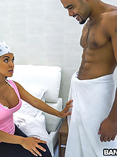 Latina Maid Receives An Eyeful