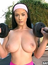 That babe loves to work out with darksome schlong