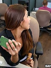Lascivious Latina drilled at the office