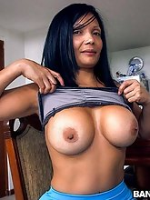 Latin chick MILF cleans and then screwed