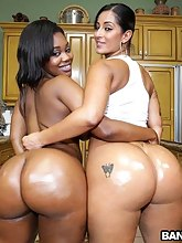 Double the hot biggest bums