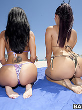 Super fine big butt Ava Addams and Mega fat booty Miss Raquel