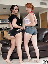 We got two juicy asses with these chick's named Veronica Von and Ivy Rider. These two have giant huge asses