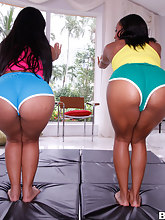 Juicy pretty butts, Imani Rose and Rose. I promise you'll love watching these two big butt females get there pussies stuffed full of cock