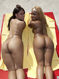 big ass Cocoa and Desire. These two ladies have lots of fat booty