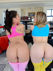 Nice butts,  London Keyes and Kagney Linn Karter have flawless bodies and sweet phat bums